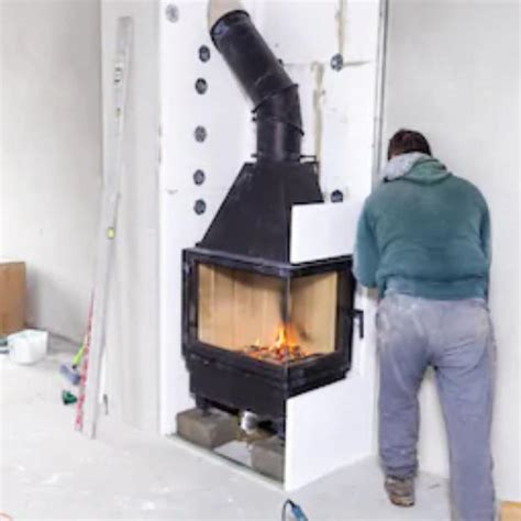 Diy-Wood-Fireplace-Installation