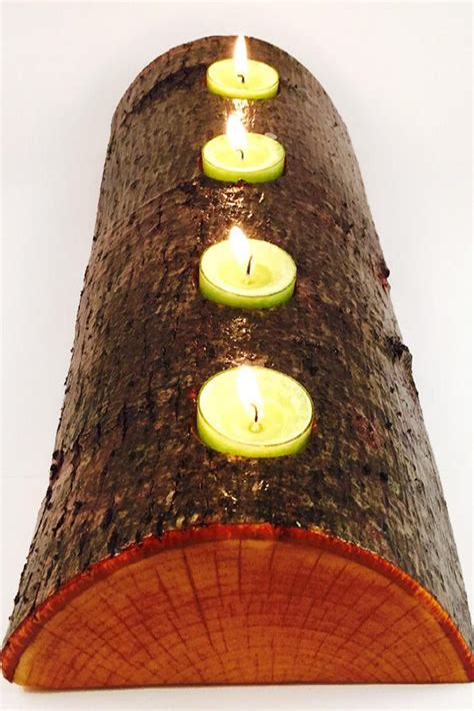 Diy-Wood-Log-Candle-Holders
