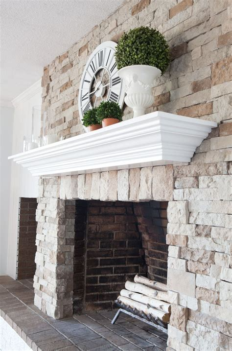 Diy-Wood-Mantel-Over-Brick