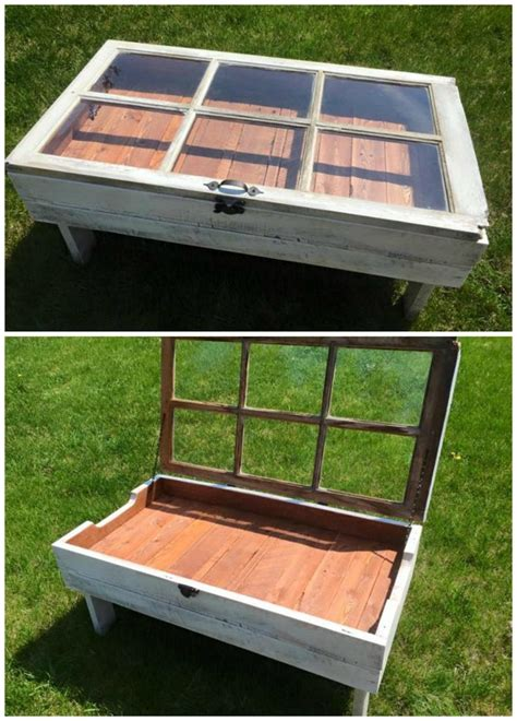 Diy-Wood-Pallet-Window-Coffee-Table