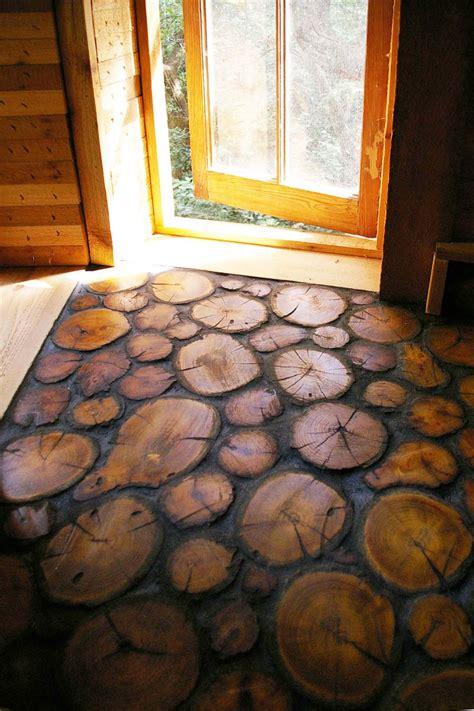 Diy-Wood-Slice-Floor