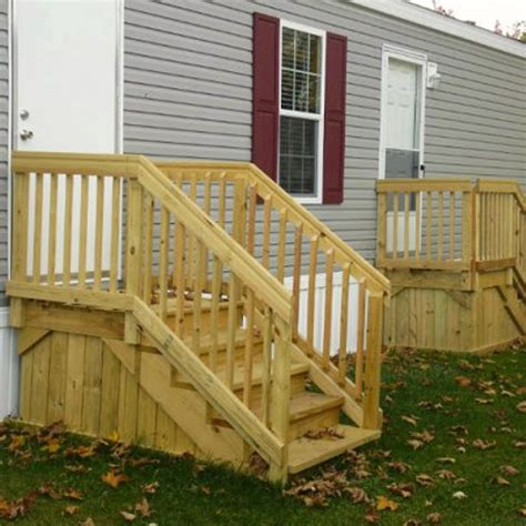 Diy-Wood-Stairs-For-Mobile-Home-Access