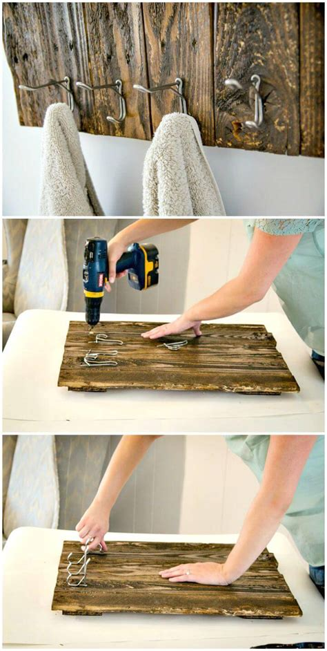Diy-Wood-Towel-Rack