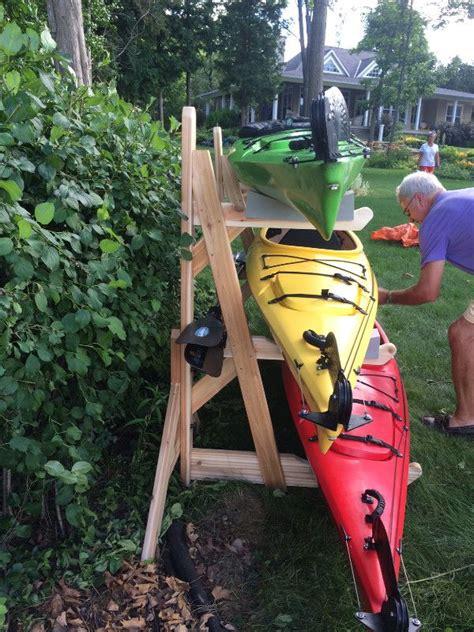 Diy-Wood-Triple-Kayak-Rack