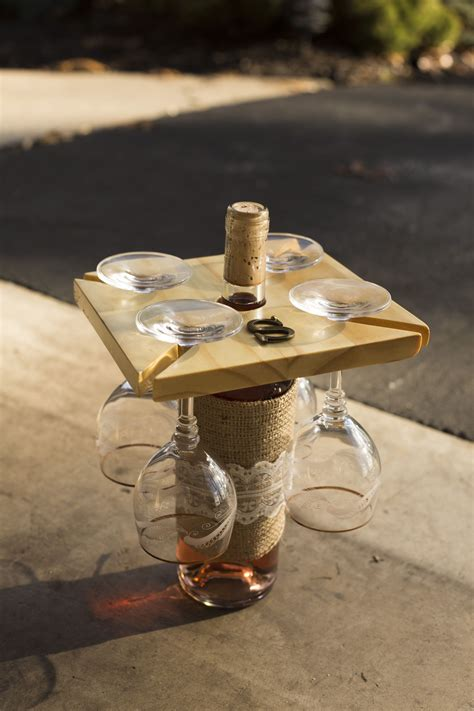 Diy-Wood-Wine-Bottle-And-Glass-Holder
