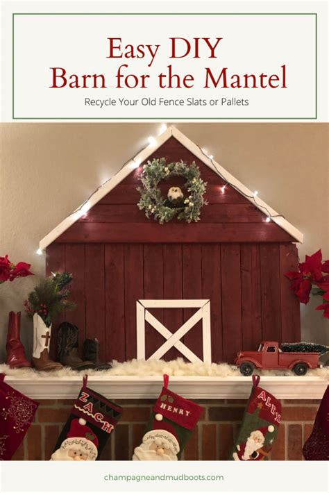 Diy-Wooden-Barn-For-Christmas-Mantle