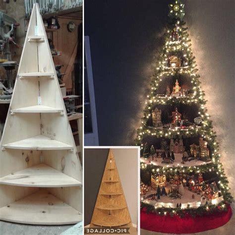 Diy-Wooden-Corner-Christmas-Tree-Shelf
