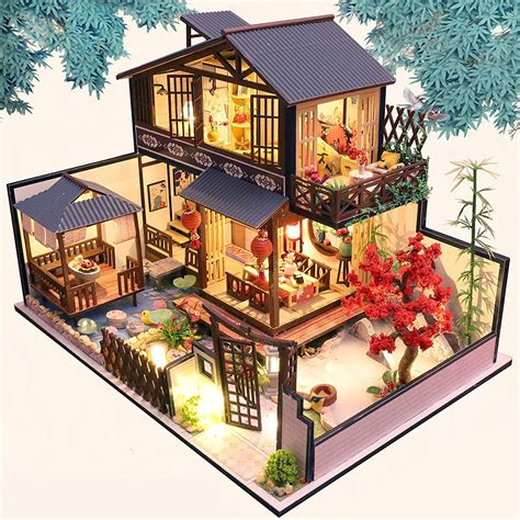 Diy-Wooden-Dolls-House-Miniature-Kit-Kids-Toy