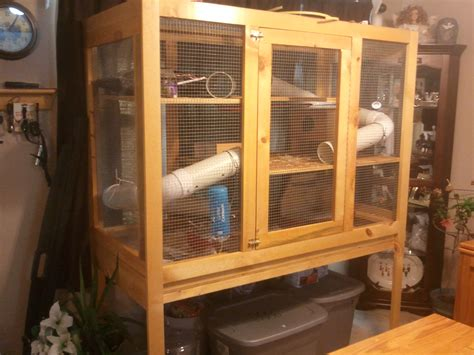 Diy-Wooden-Ferret-Cage