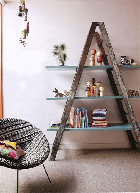 Diy-Wooden-Ladder-Bookshelf