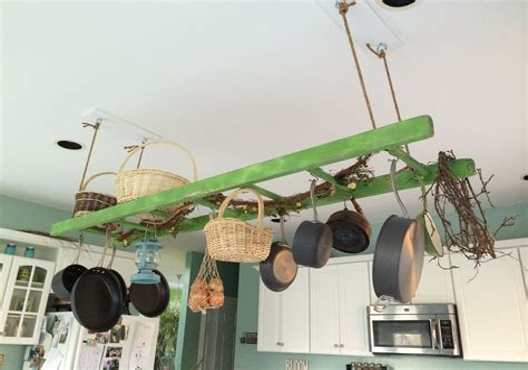 Diy-Wooden-Ladder-Pot-Rack