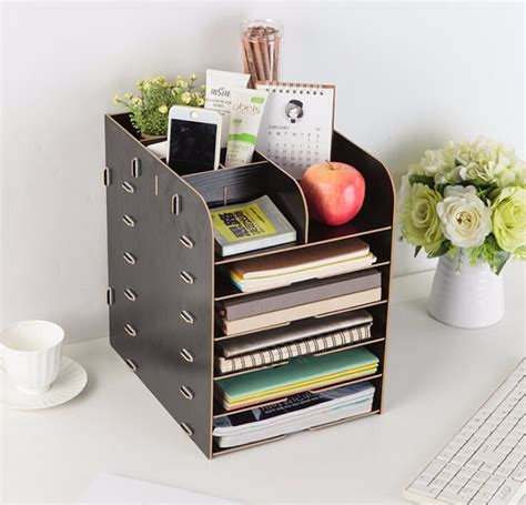 Diy-Wooden-Literature-Organizer