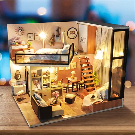 Diy-Wooden-Miniature-Dollhouse