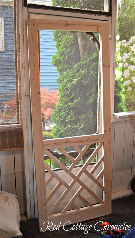 Diy-Wooden-Screen-Door-On-Top-Of-Trim