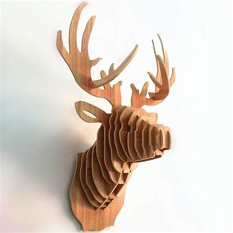 Diy-Wooden-Stag-Head-Kit