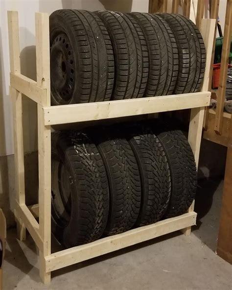 Diy-Wooden-Tire-Rack