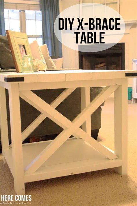 Diy-X-Brace-Table