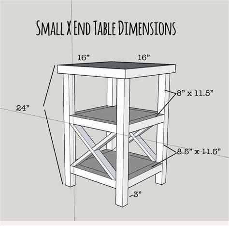 Diy-X-End-Table-Plans