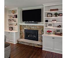 Best Diy bookshelf around fireplace
