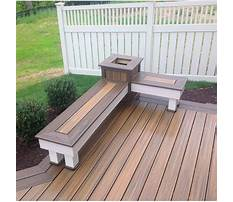 Best Diy built in deck benches