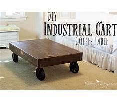 Best Diy industrial cart coffee table