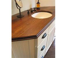 Best Diy wood countertop bathroom
