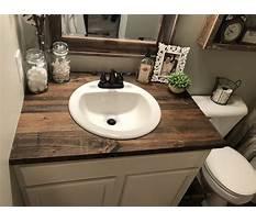 Best Diy wood countertop bathroom vanity