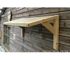 Best Diy wood door canopy