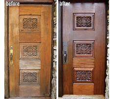 Best Diy wood door refinishing