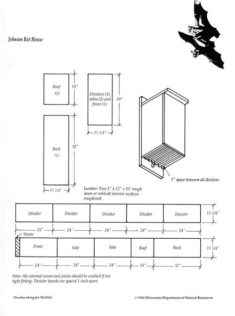 Dnr-Bat-House-Plans