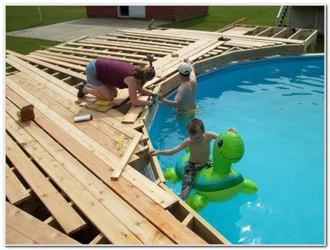 Do It Yourself Pool Deck Plans