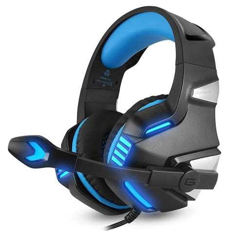 Docooler Gaming Headphone with Mic USB Professional Over Ear Stereo Gaming Headset with LED Noise Cancellation & Wonderful Sound Effect Music Earphones for Desktop Notebook Laptop