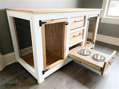 Dog Crate Console Table Plans