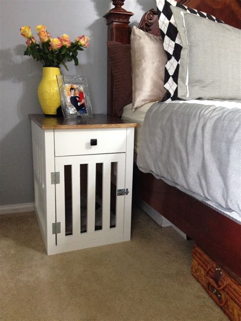 Dog Crate Nightstand Diy