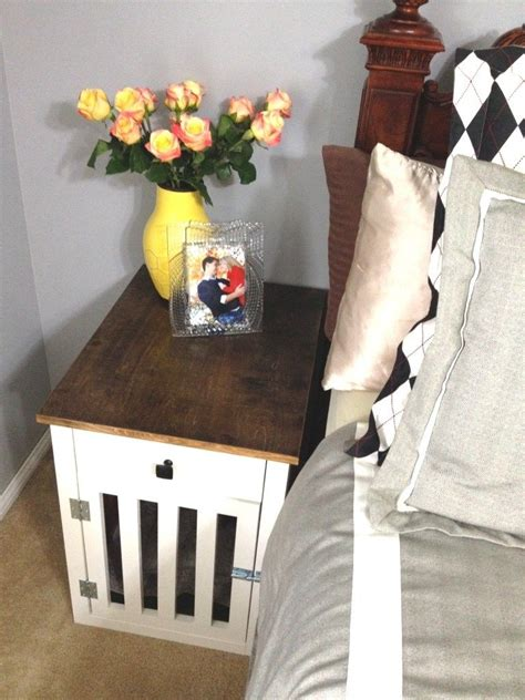 Dog Crate Nightstand Diy Ideas