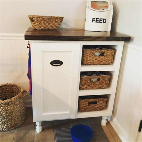 Dog Food Storage Cabinet Diy
