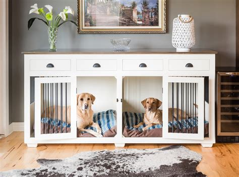 Dog-Crate-Furniture-For-Two-Dogs-Diy