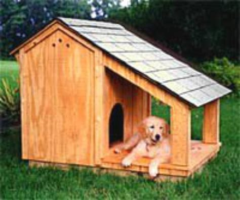 Dog-House-With-Shade-Porch-Plans