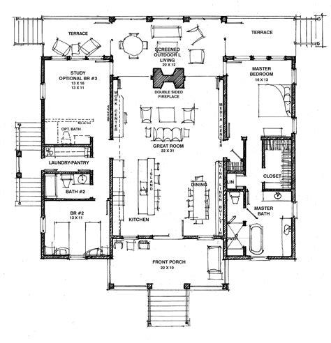 Dog-Trot-Single-Story-House-Plans
