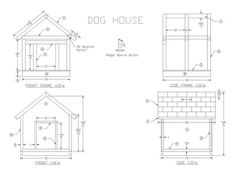 Doghouse Wood Plans