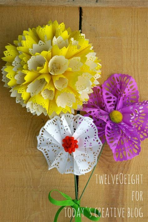 Doily Flowers Diy Drawing