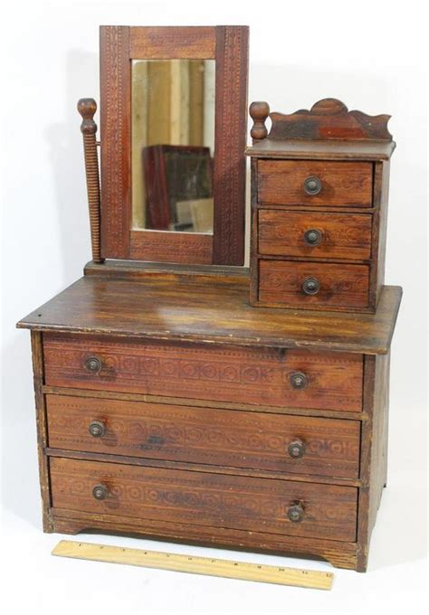 Doll Dresser With Swivel Mirror