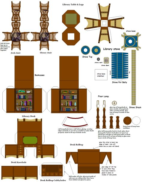 Doll Furniture Templates