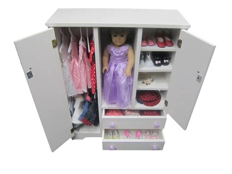 Doll Wooden Wardrobe Anerican Girl Doll