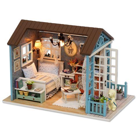 Dollhouse-Diy-Miniature-Assembly-Furniture-Handcraft-Present