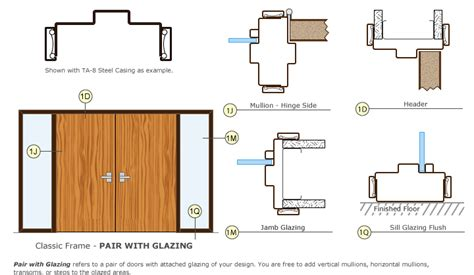 Door Framing With Sidelites Plan
