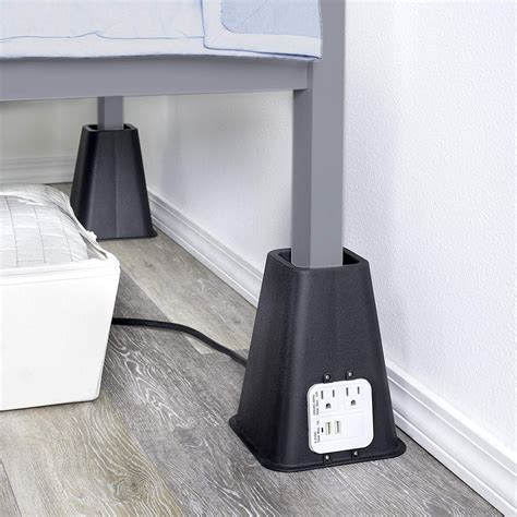 Dorm Bed Risers With Outlets