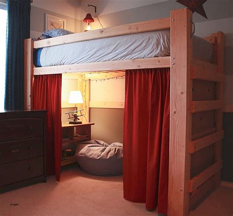 Dorm Room Loft Bed Curtain Diy