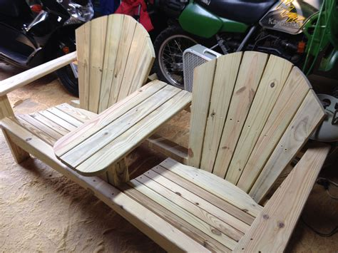 Double Adirondack Chair Plan From Yellawood