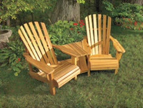 Double Adirondack Chair With Table Diy Ideas